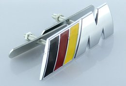 Wholesale xterior Accessories Emblems D Metal German Flag Deutschland D Front Grille Grill Emblem Car Auto Turning Racing Running Body Kit Badge L