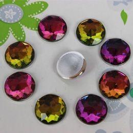 200PCS 12mm Round Acrylic Flat Back Crystal Beads Rhinestones Diy crafts ZZ91