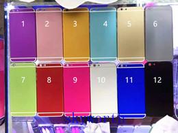 Logos sim en Ligne-Neuf iPhone 6 6S 6S + plus 4.7 5.5 batterie Aluminium Back Cover logement de remplacement avec boutons latéraux Carte SIM Plateau 12 couleurs avec logo