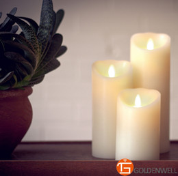 Wholesale-3pcs set Luminara Remote Flameless Candles for Your Smart Home and Smart Linghting