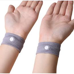 Wholesale TOP Sports cuffs Safety Wrist Support Travel Wristbands Anti Nausea Car Seasick Anti Motion Sickness Motion Sick Wrist Bands