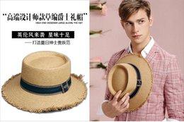 Wholesale-Leisure vintage handmade linen fedoras wide peak unisex black sun hat cap fashion casual simple style jazz cap sun protection