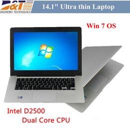 Wholesale New Cheap inch win7 laptop PC thin Windows Ultrabook netbook Intel dual core Atom D2500 GB HDD Webcam Laptops computer