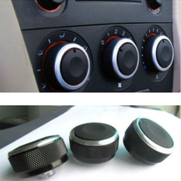 3pcs set Car Air-condition Heater Knob Control Panel Elegant Switch Knob For Mazda 3 2004-2009