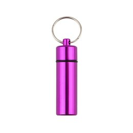 Wholesale 1PC High Quality Waterproof Aluminum Pill Box Case Bottle Cache Drug Holder Keychain Container PromotionHot New Arrival