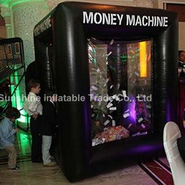 Wholesale Black inflatable money machine giant advertising inflatable cash money coupon machine for entertainment