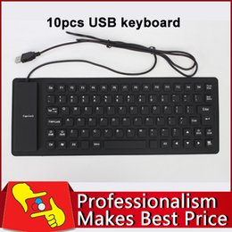 Argentina Wholesale-10pcs / lot 85 llaves impermeabilizan cable USB flexible de silicona suave teclado para PC Portátil wired usb silicone keyboard wholesale promotion Suministro