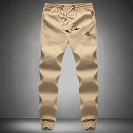 Wholesale New Fashion Plus Size Men Pants Fit Cotton jogger pants summer style Sweatpants Men s Trousers Sport Pants M XL khaki cargo