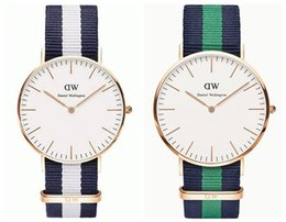 Wholesale Top Brand Luxury Style Daniel Wellington Watches DW Watch For Men Women Nylon Strap Military Quartz Wristwatch Clock Reloj hombre mm mm