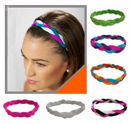 Wholesale New Fashion cheap rope braided sports hair headband yoga headband football headband for women girls