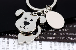 High quality Spinning Cute Dog Keychain Key Chain Ring Unique KeyChain keyrings zinc alloy the best wedding Favor Key Fob Car Keychain