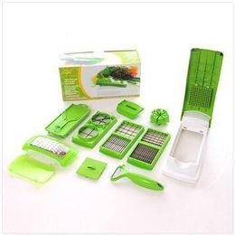 Wholesale Best Kitchen Tools Kits NICER DICER PLUS Woolly Shredder Salad Machine Multi function Cutting Machine Fruit Vegetable Slicer Cutter Via EMS