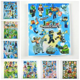 Wholesale New MCFT Frozen Inside Out Snoopy D stickers Bronzing stickers Minecarft stickers Frozen stickers Snoopy stickers