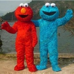 Wholesale Adult Size Red Elmo Mascot Costume Party Costumes Chirstmas Fancy Dress elmo costume mascot drop shipping