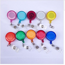 Wholesale 500pcs random color Plastic Reels Retractable for ID Card Badge Holder YOYO Solid