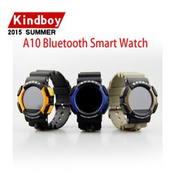 Wholesale 2016 SmartWatch A10 Sport Health Smart Watches For Android ISO phone with Bluetooth Compass Heart Rate Waterproof IP67