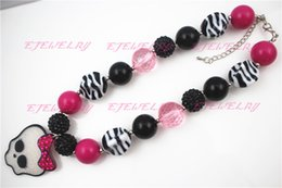 Fashion jewelry Little Girl Bubblegum Chunky Necklace Halloween Monster High Tickle Me Pink Couture CB179