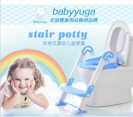 Wholesale baby potty toilet children potty urinal training penico ladder to toilet folding pee trainer kids plastic chair