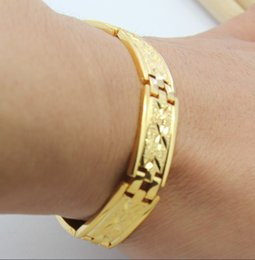 Wholesale Manufacturers price promotion items k gold plated bracelet men s jewelry gold jewelry