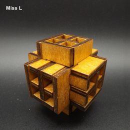 Window Of The World Wood Puzzle Brain Training Toy Lu Ban Lock Mind Game Kid Toy