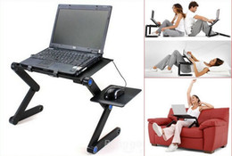 Wholesale 5 Degree Portable Folding Rose Black Metal Laptop Notebook Computer Stand Table Desk Bed Office Sofa Tray