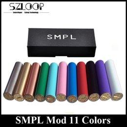 Wholesale SMPL Mod Mechanical Mod Clone Various Colors Facotory Price Thread E Liquid Vaporizer DHL Free