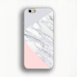 Cell phone case Pink geometric phone cover Colourful triangle on white marble 3d case for iPhone 6 6 plus