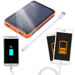 Wholesale 2016 Newest mAh Waterproof Portable Solar Power Bank Dual USB Solar Charger for cell phone