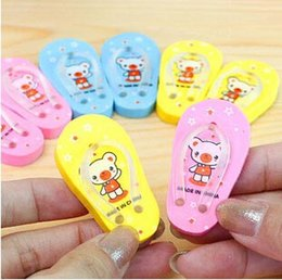 Wholesale Free ship pair Cartoon slippers realistic eraser lovely rubber cute erasers order lt no tracking