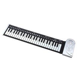 Venta al por mayor-Portátil 49 llaves flexibles Roll Up piano electrónico Soft teclado Piano Silicona caucho teclado plástico ABS soft keyboard piano 49 promotion desde piano del teclado suave 49 proveedores