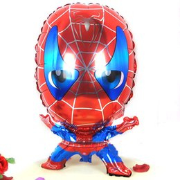 Wholesale 59 cm spiderman shape cartoon foil balloons spiderman party supplies birthday party decoration spider man JIA68