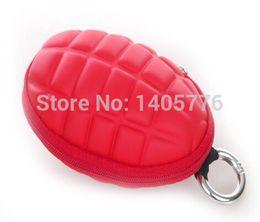 Wholesale Red color Key bag Unisex multifunctional grenades key bag grenades key case purse Wallet