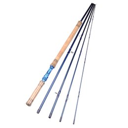 Wholesale 11 ft M Sections IM7 Carbon Fly Fishing Rod Aluminum Reel Seat g oz Fly Rod w A grade CorkWood Handle