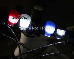 2015 New products Silicone Bike Cycling led Light Front Tail Flash Lamp Bulb Waterproof Safety bicycle light
