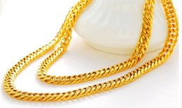 chaming yellow gold filled chain men and women necklace (pfmcgy88 ) igdg
