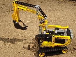 Wholesale Excavator Exploiter series Building Block Sets Educational Jigsaw Enlighten DIY Construction Brick toys