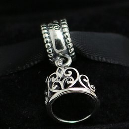 100% 925 Sterling Silver Snow White Tiara Dangle Bead Fits European Pandora Jewelry Bracelets Necklaces & Pendants