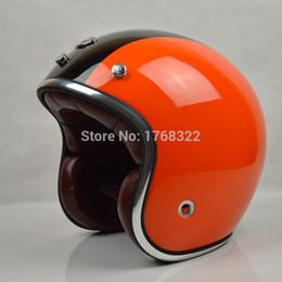 Cascos de moto de época en venta-de fibra de vidrio al por mayor de la cara abierta 3/4 casco de la motocicleta de motocross moto Casco Capacete, envío libre, casco Jet retro de la vendimia, ECE