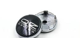 4pcs 60mm Black lattice OZ Racing Car Alloy wheel Center Hub Caps Wheel Dust-proof covers Emblem
