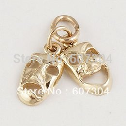 30Pairs Lot Zinc Alloy 18K Gold Rhodium Plated Hand-made Vintage Mask Accessories Charm Jewlery Made In China