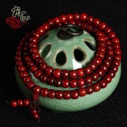 Wholesale Zambia blood sandalwood bead bracelets apple red sandalwood sandalwood prayer beads bracelet jewelry resembles lobular red san