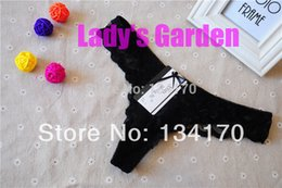 Wholesale Cheapest Cotton Underwear - Wholesale-X19 HOT Cheap Lace Women's Sexy Panty G string for women Knickers Lingerie Underwear Panties intim Brazilian Style