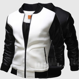 Wholesale Sign kepi sleeve casual baseball jacket lapel jacket collar men cultivating foreign trade men s baseball clothes