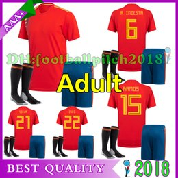 2018 World Cup Spain home Soccer Jersey World Cup INIESTA RAMOS MORATA ISCO ASENSIO SERGIO SILVA TORRES 18 Spain national kit Football Shirt