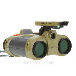 4 x 30mm Folding Telescope & Binoculars with Pop-up Light Camouflage Binoculars Night Vision Scope Telescope for Hunting XHM346