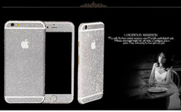 Wholesale Shiny Glitter Full Body Stickers for iPhone S S Plus Sparkling Diamond Film Decals Matte Screen Protector
