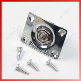 Promotion guitares Hot Sell 10sets / lot Chrome Rectangle Output Guitare Jack Plate Socket Free Shipping order $ 18no track