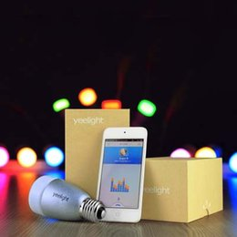 Wholesale Yeelight Blue Smart light E27 W RGB Bulb bluetooth Wireless Control by for iOS iPhone Plus s Android Phones AS For Philips HUE