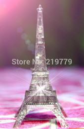 Wholesale-13*8cm DIY 3D Jigsaw Crystal Puzzle Tour Eiffel Tower Flash Led Light 44pcs Plastic Home Decoration