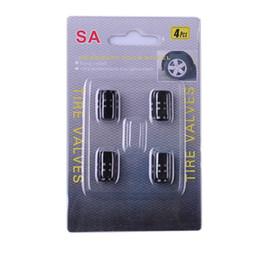 Valves à air de camion à vendre-Nouveau 4XTire jantes de roue Tige Air Valve Caps Tire Cover Car Bike Black